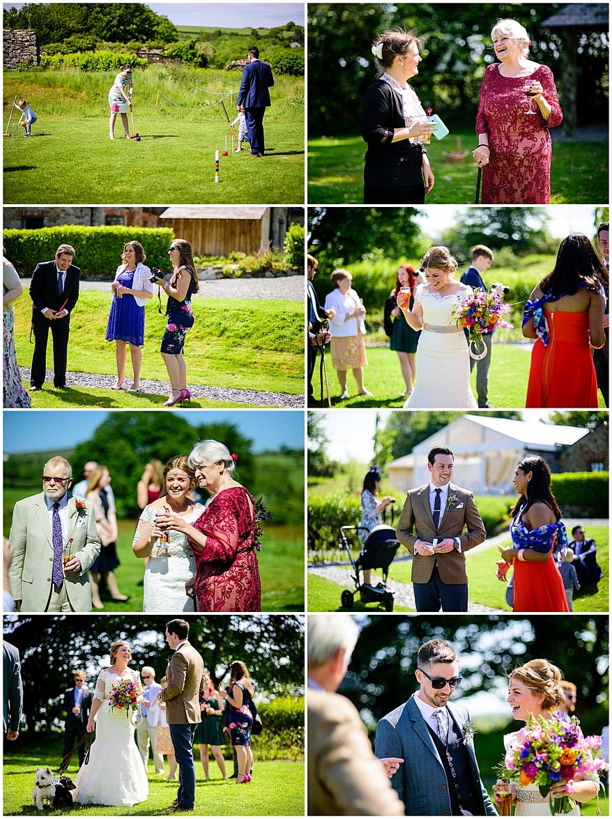Reportage wedding photographs captured by a Trevenna Barns wedding photographer