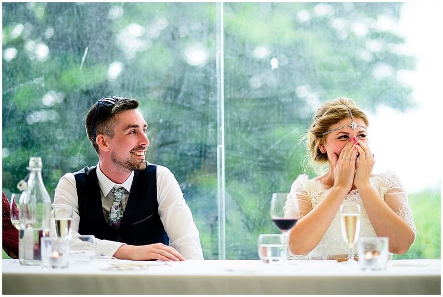 Candid wedding photography at Trevenna Barns