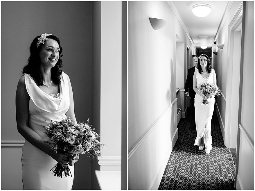Bride posing for photos at her wedding at the alverton hotel