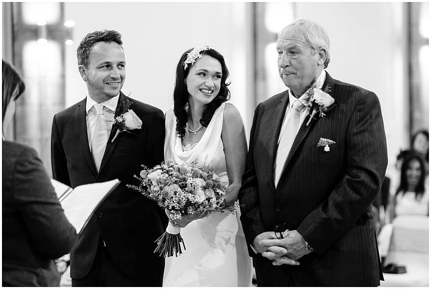 Bride with her father at the alverton hotel