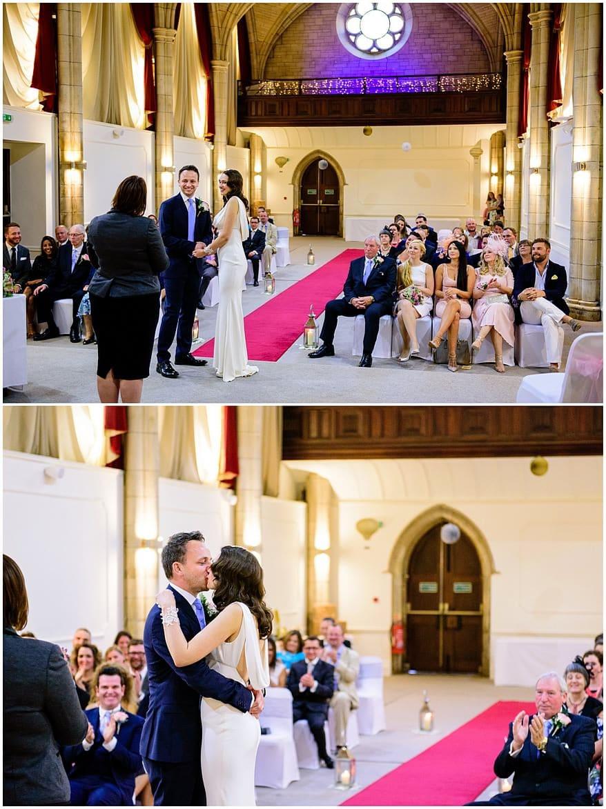 wedding ceremony at the alverton hotel