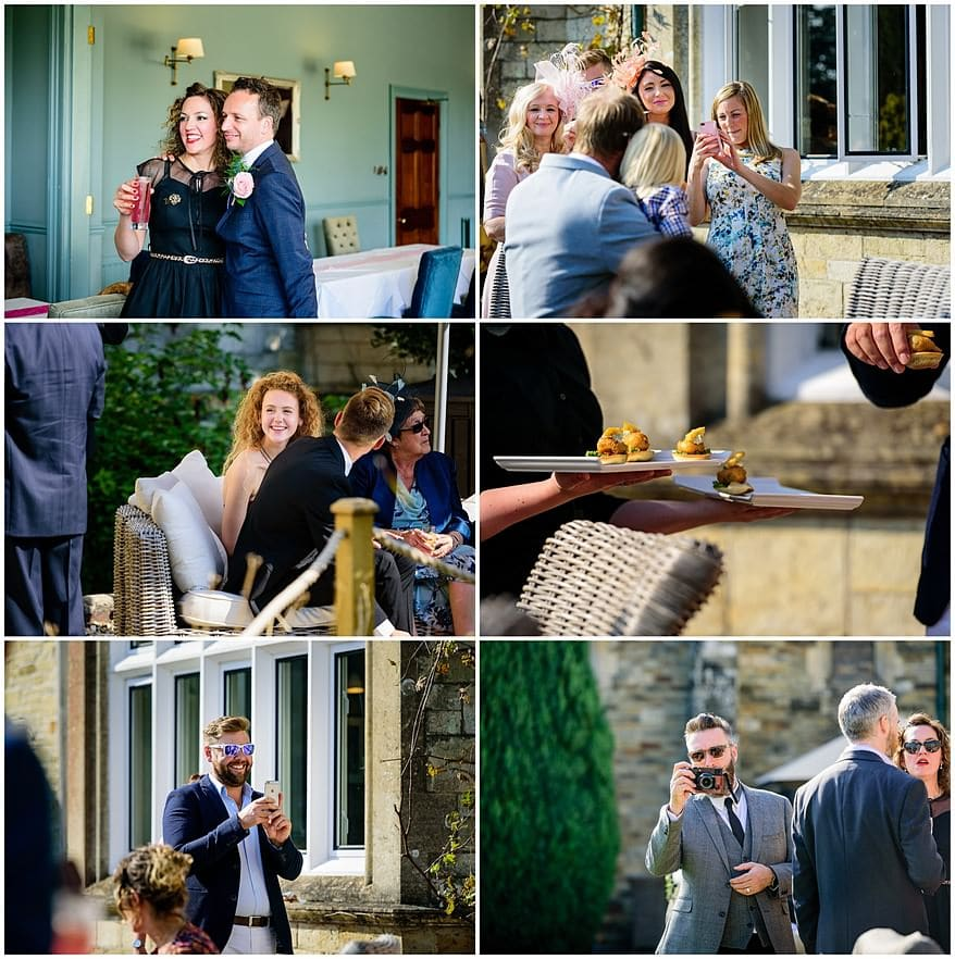 candid photographs of wedding guests at the alverton hotel