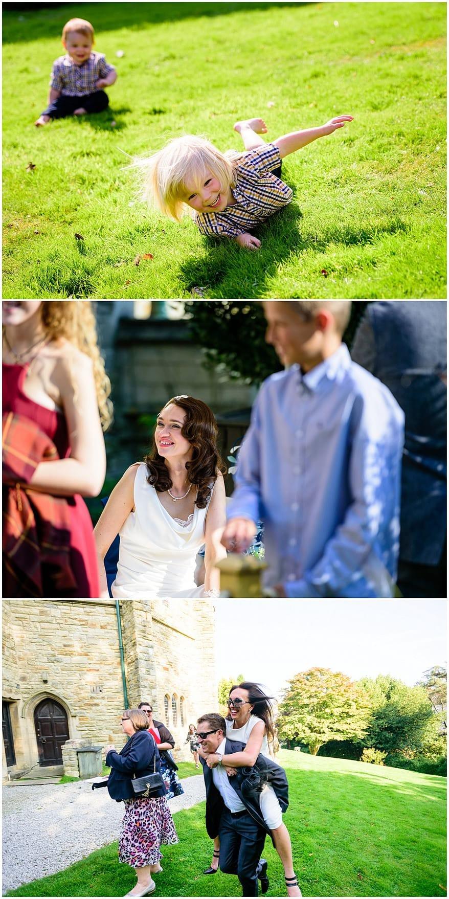 reportage wedding photographs at the alverton hotel in truro