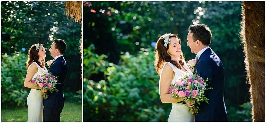wedding photographs in the gardens at the Alverton hotel