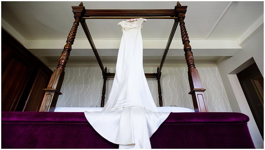 Wedding dress for a wedding at the Alverton Hotel
