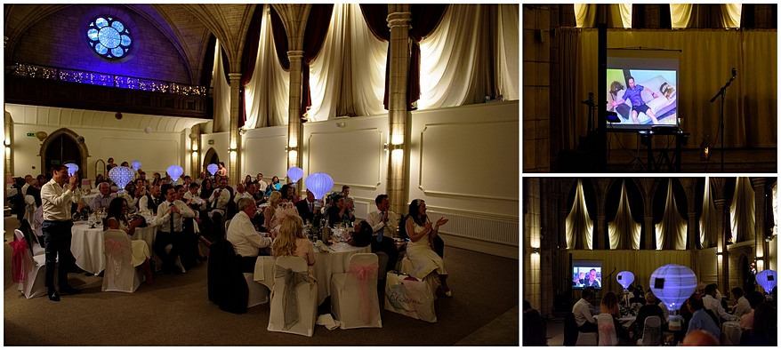 wedding slideshow at the alverton hotel wedding