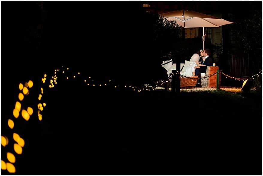 dramatic wedding night time photographs