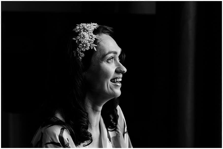 Bridal preparation at the Alverton hotel in truro