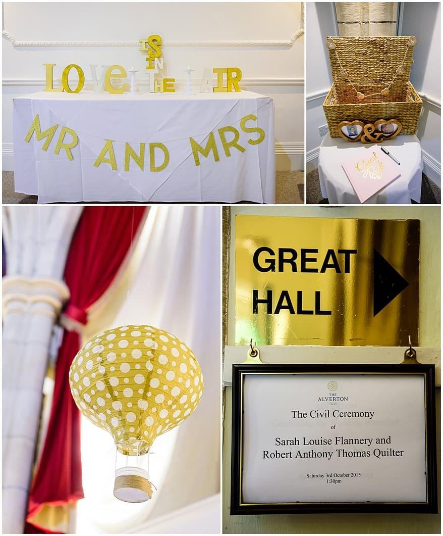wedding details at a Alverton hotel wedding