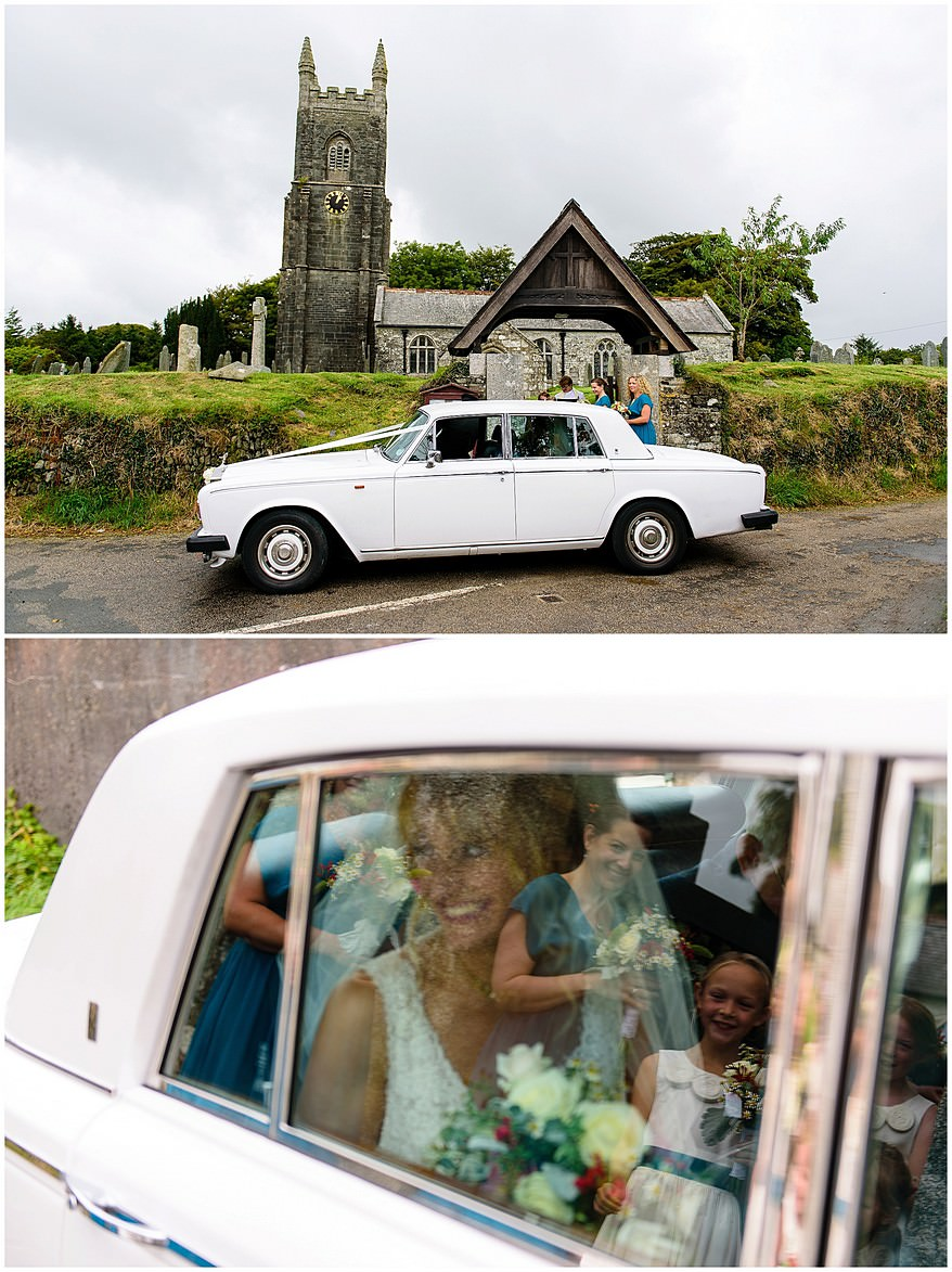 Wedding at Saint Martin's church at Lewannick in Cornwall