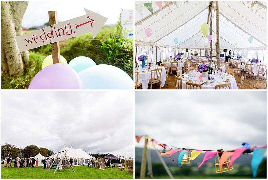 Marquee wedding at Coads green village hall