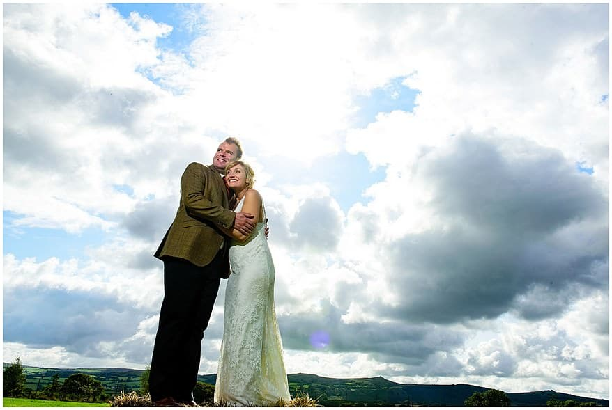dramatic photographs at a village fete themed wedding