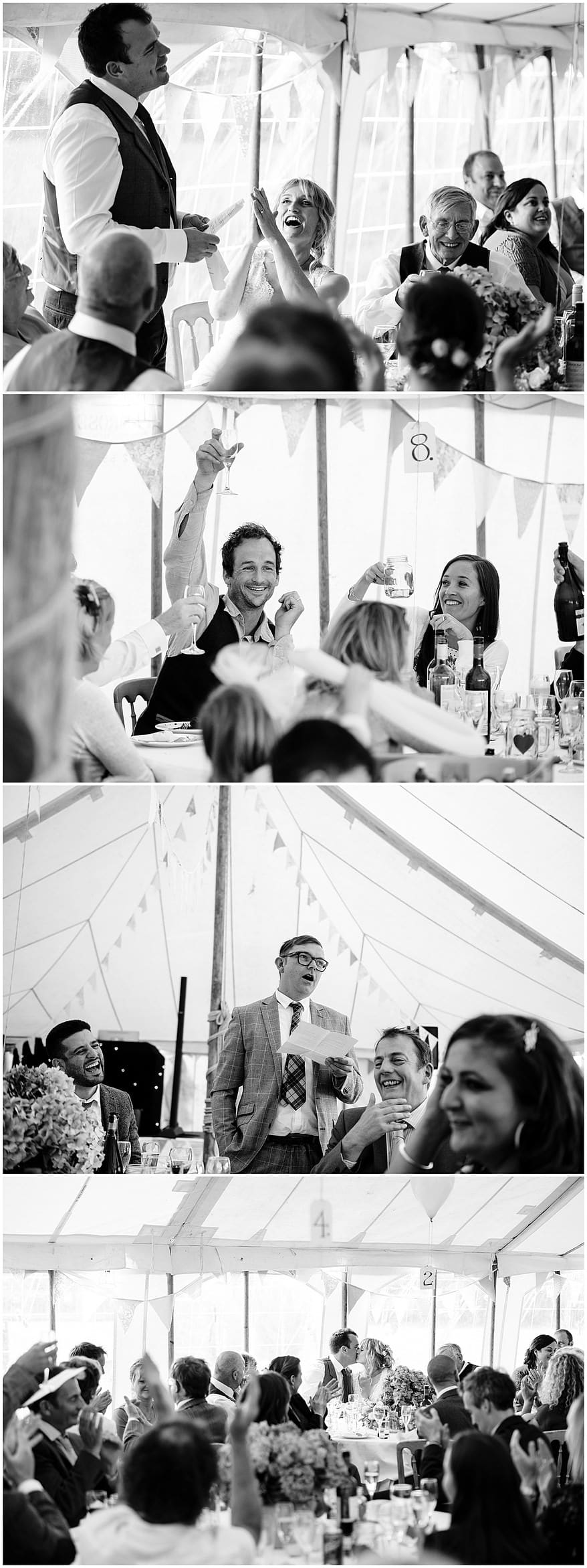 groom speeches at a village fete themed wedding