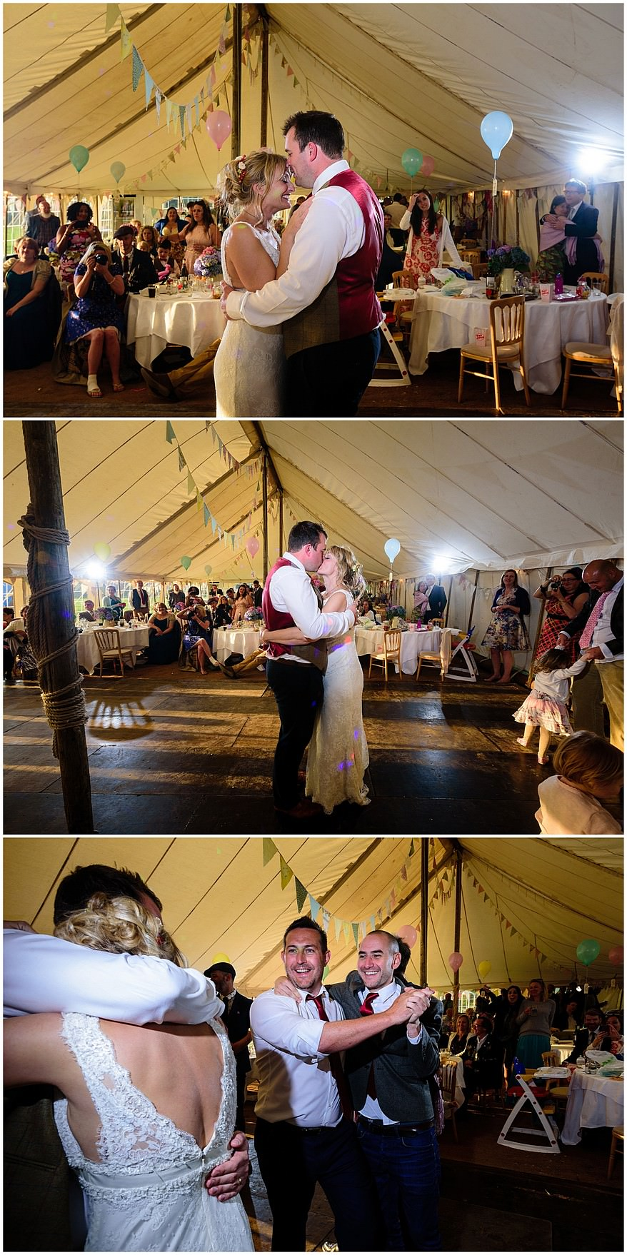 First dance at a Coads green village hall wedding