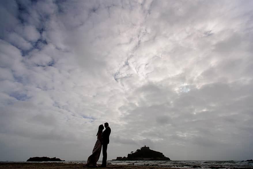 St Michael's mount wedding photographs 0 penzance registry office wedding
