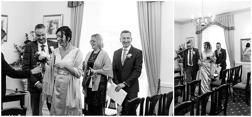 winter wedding at Penzance registry office