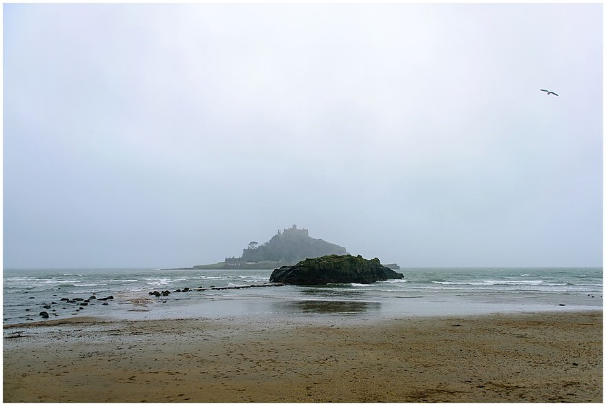 Wet and windy at St Michael's mount