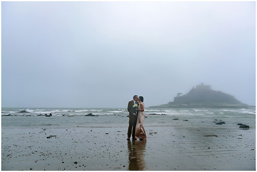 Winter wedding at St Michael's Mount