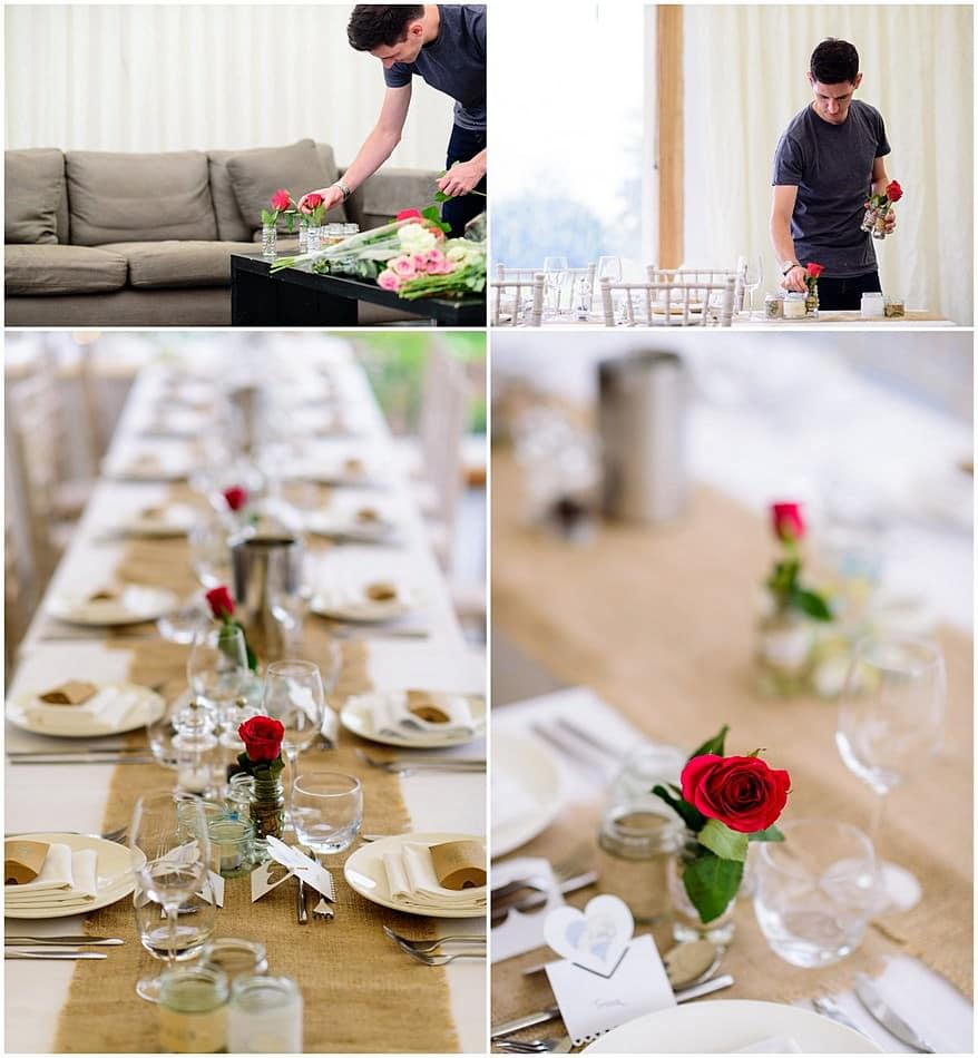 table layout at tevenna barns