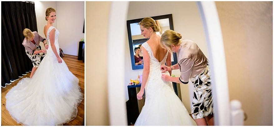 Bridal getting ready at Trevenna barns
