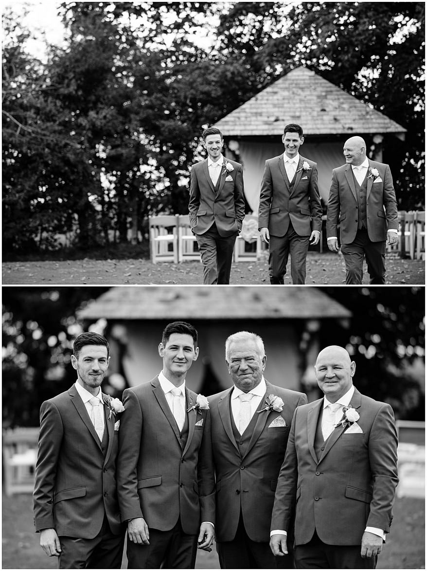 Groommen on the lawn at Trevenna barns