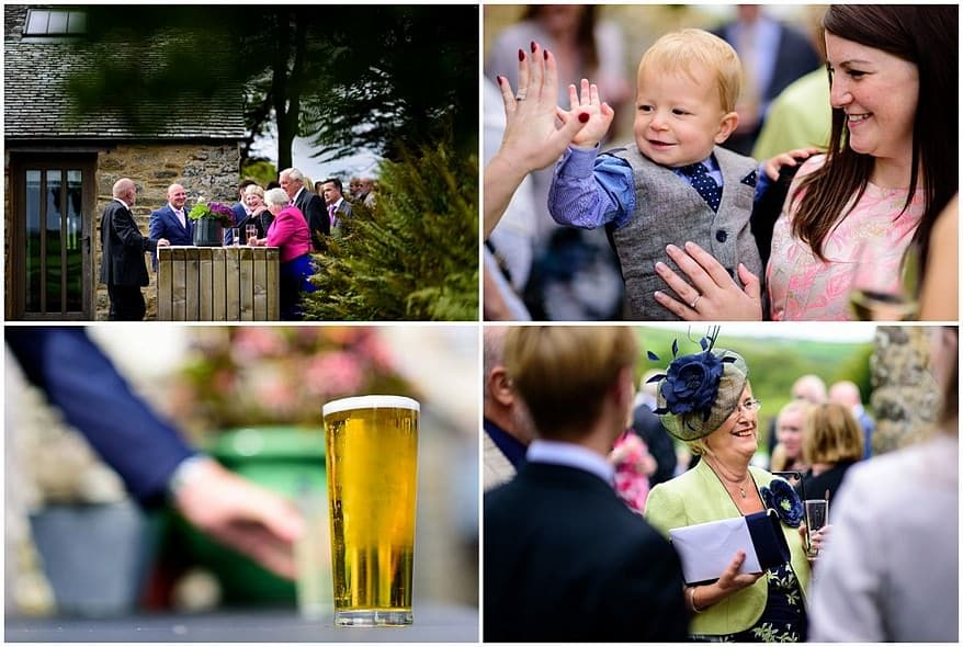 candid wedding photographs of the guest at Trevenna barns
