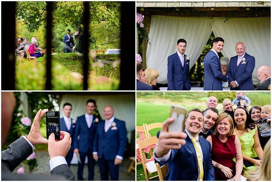wedding selfies at Trevenna barns