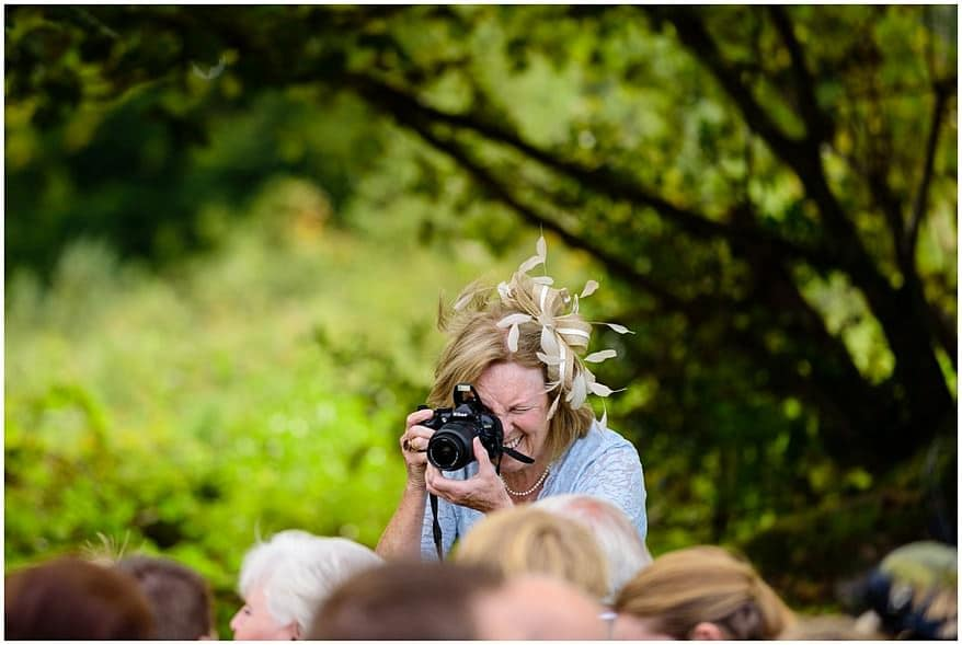 candid photos of the wedding guests at Trevenna barns