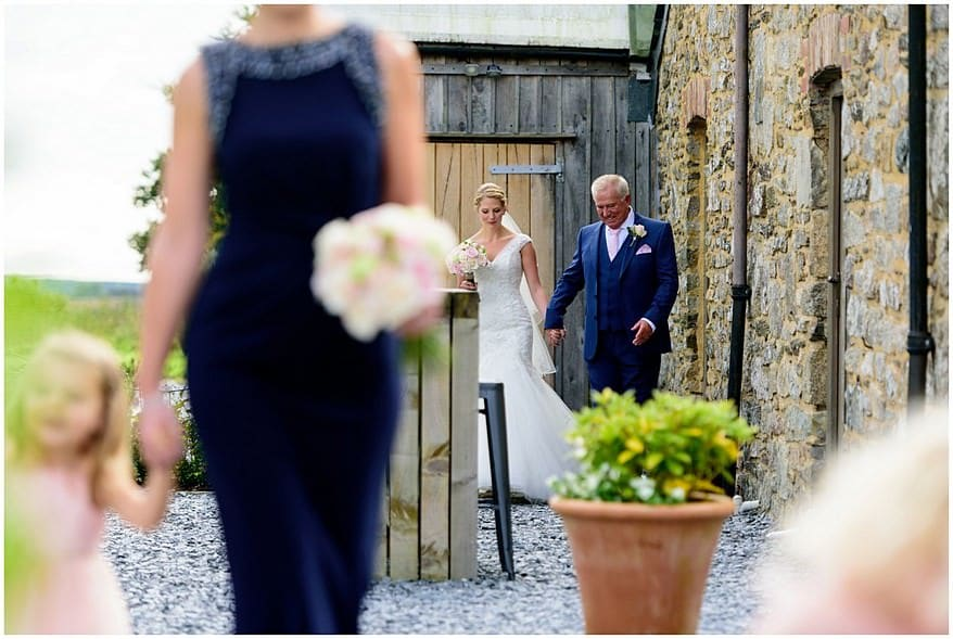 happy bride at trevenna barns