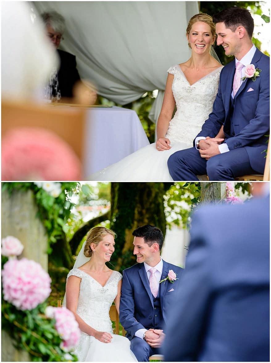 beautiful wedding ceremony at trevenna barns