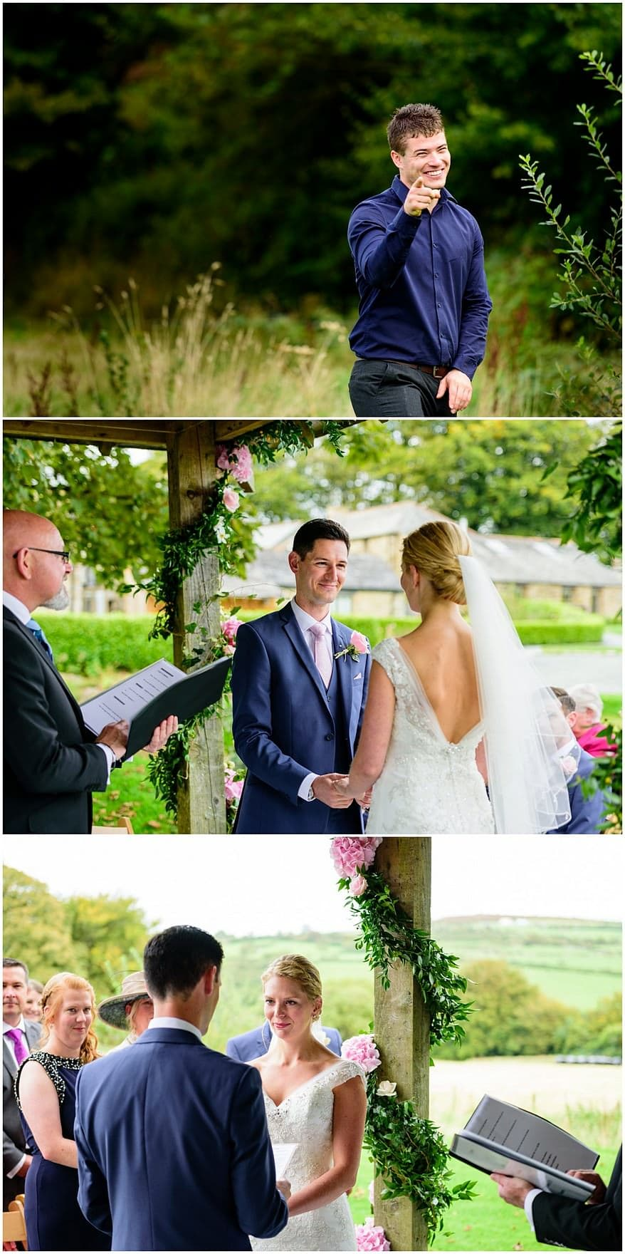 summer wedding ceremony at trevenna barns