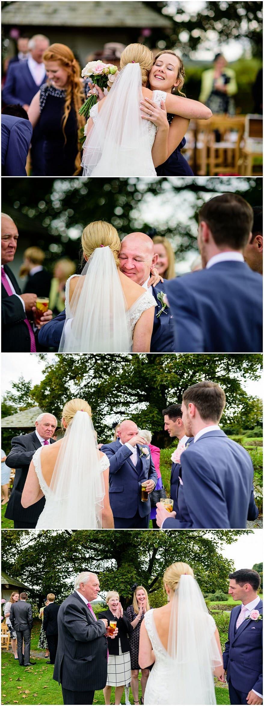 tearful dad at a trevenna barns wedding