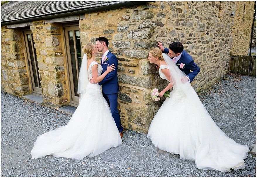 retro wedding image at trevenna barns