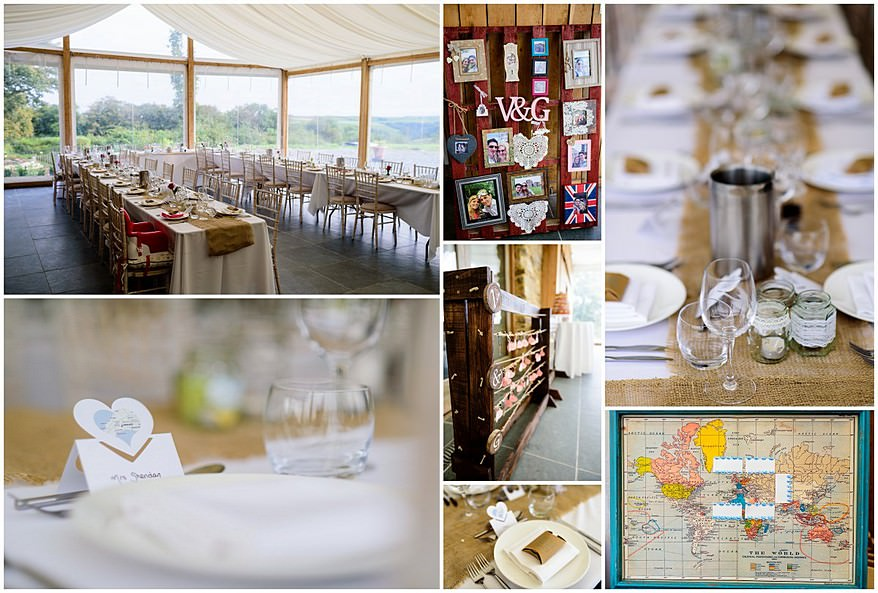 wedding favours at a trevenna barns wedding
