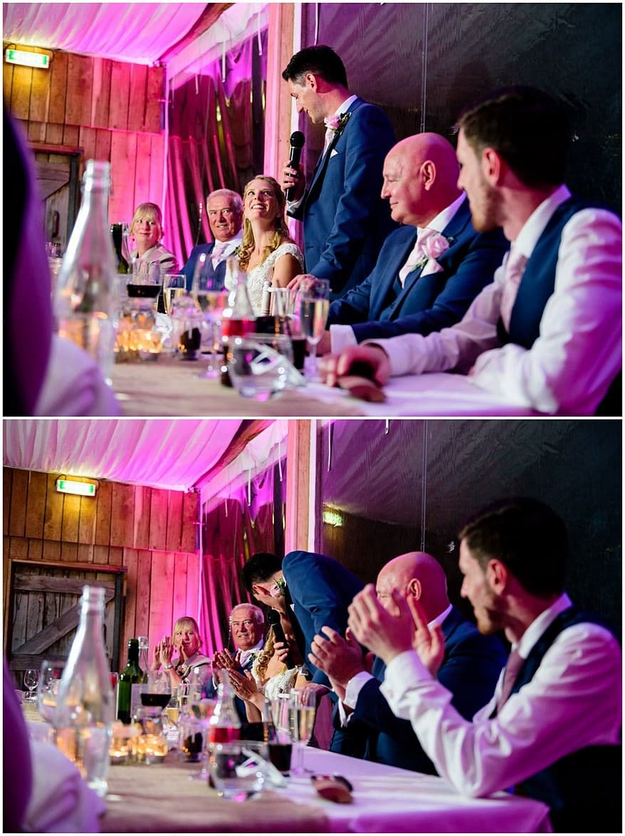 grooms wedding speech at trevenna barns