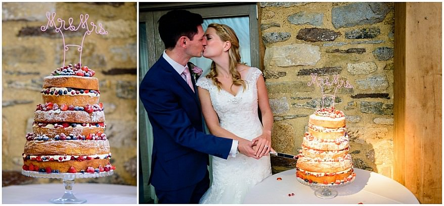 cake cutting at trevenna barns