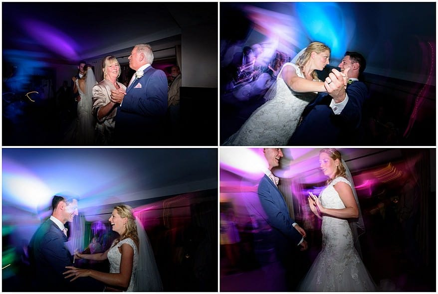 bride and grooms first dance at Trevenna barns