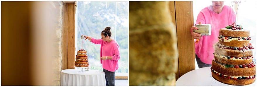 Wedding cake at Trevenna barns