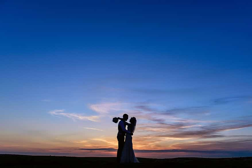 Sunset over Trevenna barns in Bodmin 1 wedding photographer cornwall