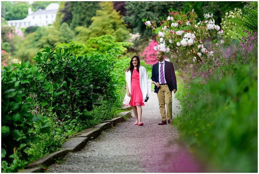 falmouth wedding proposal at Trebah gardens