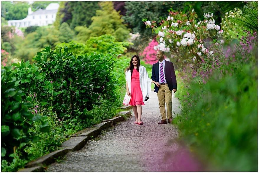 falmouth wedding proposal at Trebah gardens