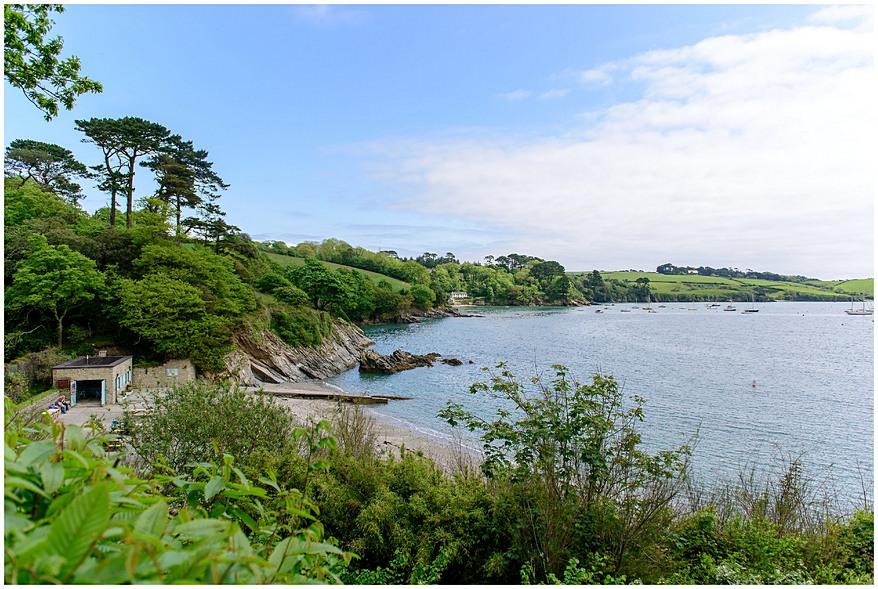 sea views from The Eirey at Trebah Gardens