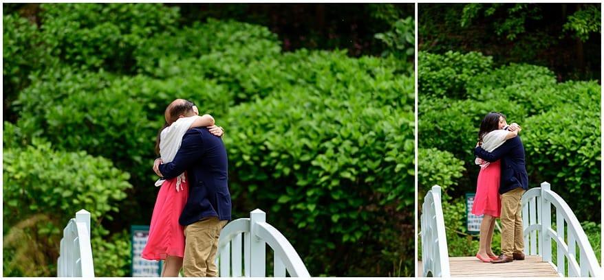 Marriage Proposal at Trebah Gardens