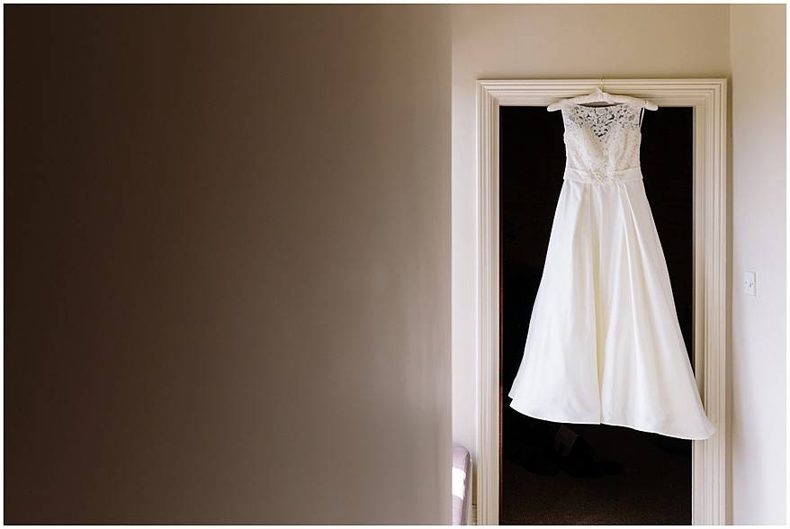 wedding dress hanging at the alverton hotel 8