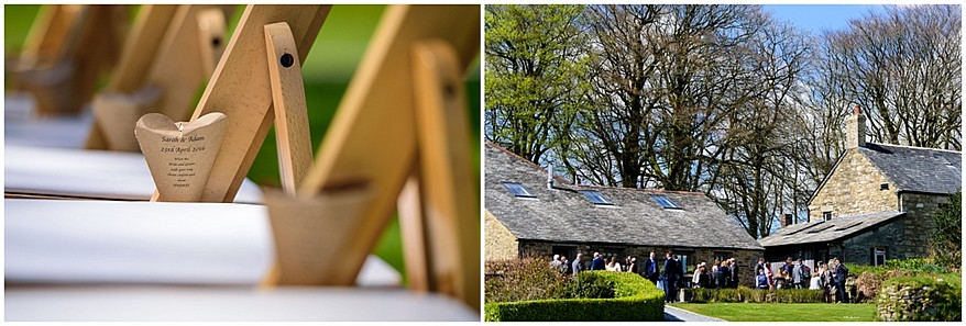 wedding guests at trevenna barns in bodmin 23