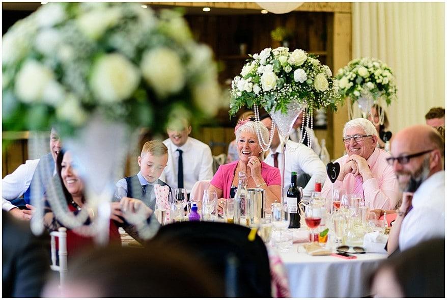 wedding guests at trevenna barns 56
