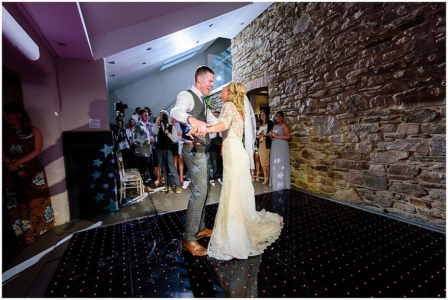 first dance at trevenna barns in bodmin 65