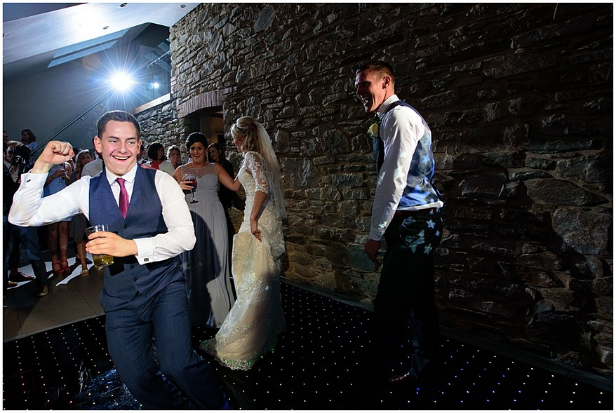 wedding guest dancing at trevenna barns 68