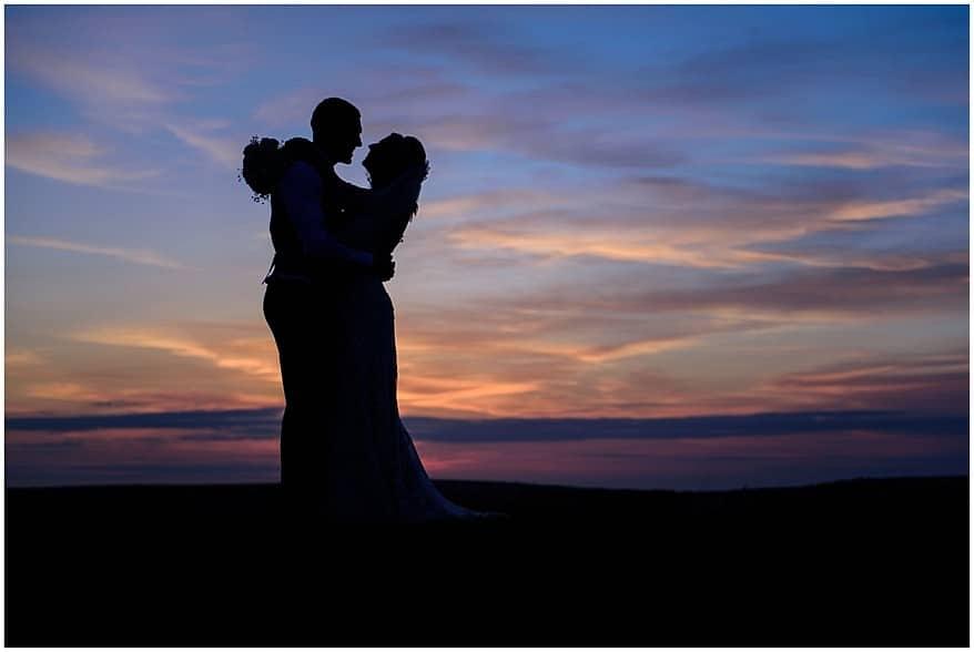 sunset over bodmin moor near a trevenna barns wedding 73
