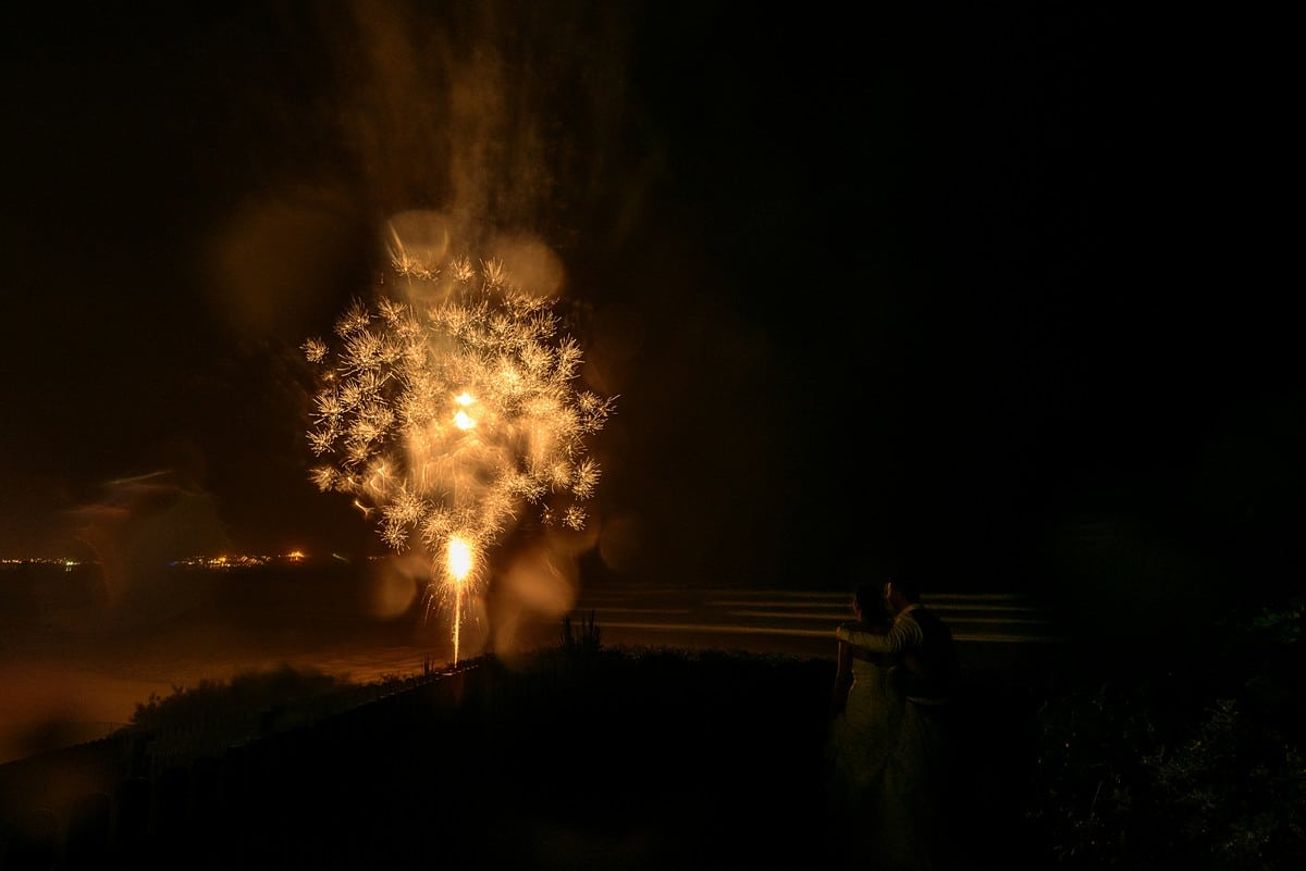 fireworks at watergate bay hotel
